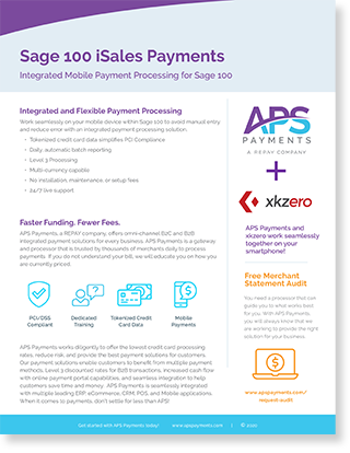 Mobile credit card payments in Sage 100
